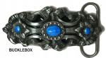 Pagan Flower (turquoise) - Heavy Belt Buckle. Code AU2